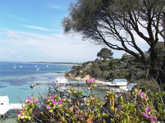 Portsea, Australia: Walking along the edges of the cliff.