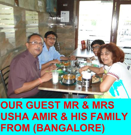 OUR GUEST MR & MRS USHA AMIR FROM ( BANGALORE) )