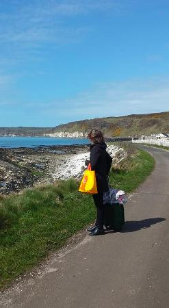 Rathlin Island, UK: The walk to the hostel. Very easy. Watch for seals!