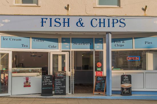 Rhosneigr, UK: Scarletts Fish and Chips