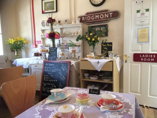 Quaint Old Fashioned Tea Room With Fine China And Homemade Cakes As
