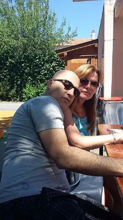 La Buvette de la Plage : Claire & myself