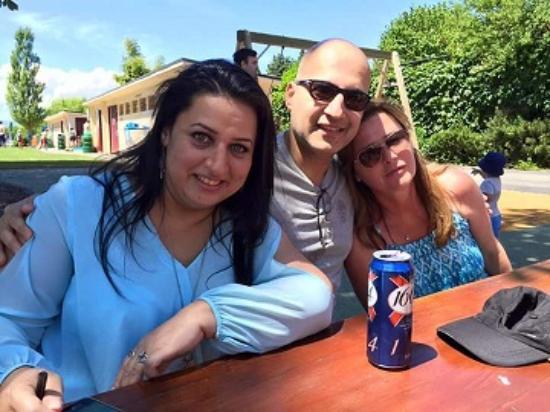 La Buvette de la Plage : My wife Alia,Claire & Me