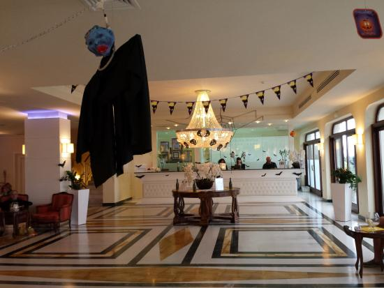 tui sensimar grand hotel nastro azzurro reception on halloween night