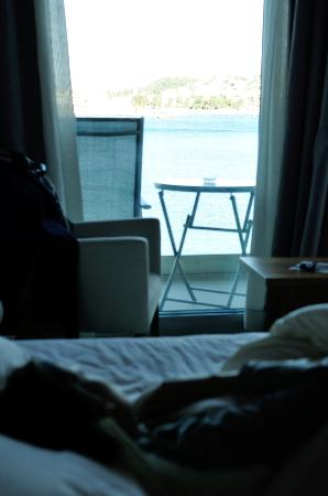 Podstrana, Kroatia: Vue directe sur Split au réveil