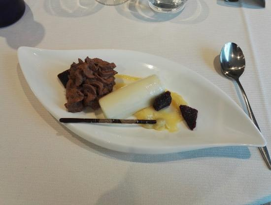 Durtal, Francia: Fraîcheur citron vert avec émulsion de chocolat