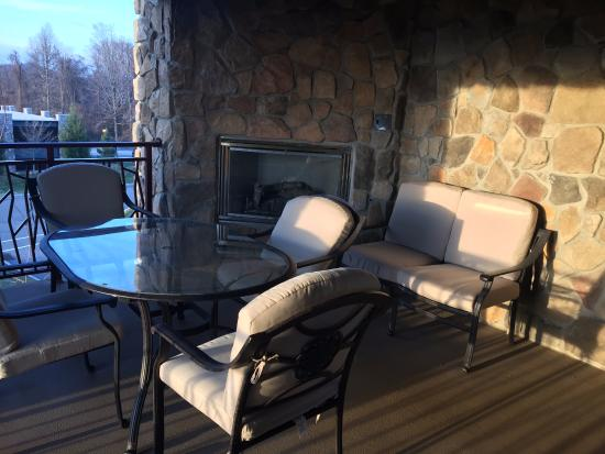 part of outdoor patio with fireplace picture of grand cascades rh tripadvisor in