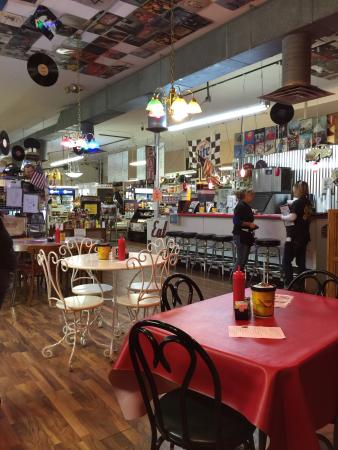 Lava Rock Grille: This place is has such a warm eclectic feeling to it. Tons of stuff to stare at and take you bac