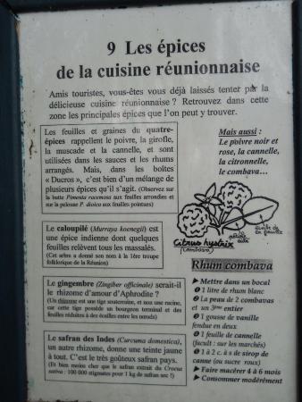 Saint-Gilles-Les-Bains, Reunion Adası: Jardin d'Eden - Panneau explicatif