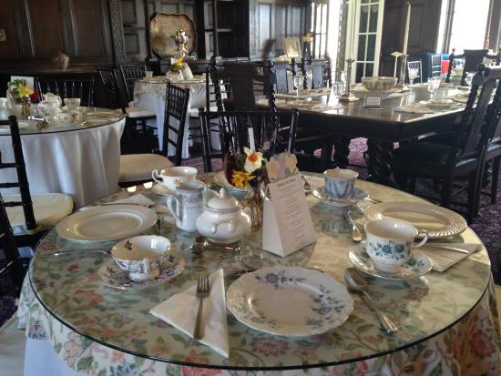 Bristol, RI: High tea in the dining room