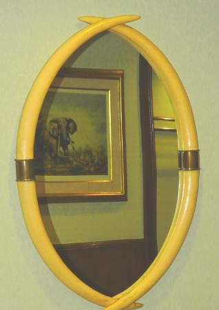 Mirror Frame Made From Elephant Tusks In The Elephant Room Early
