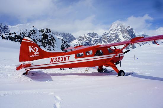 Талкитна, Аляска: Our DeHavilland Beaver that took us around the mountains and onto Ruth Glacier.