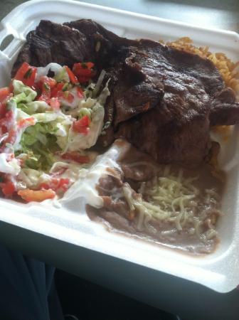 Jalapeno's Taco Shop : (#4) carne asada meal