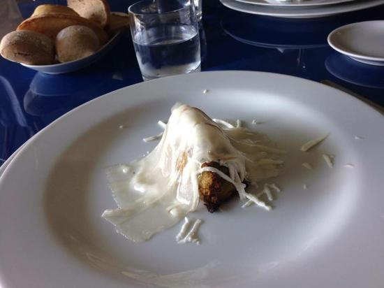 Labico, Italia: I'm not sure of the name of this starter, but it was made up of cabbage. The