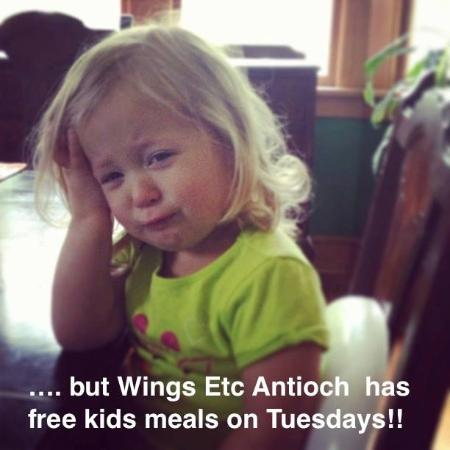 Antioch, IL: Kids eat free on Tuesdays!