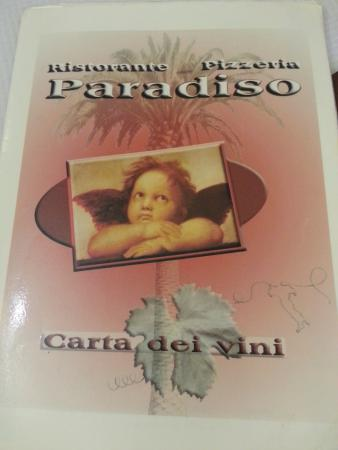 Ristorante Paradiso : Carte