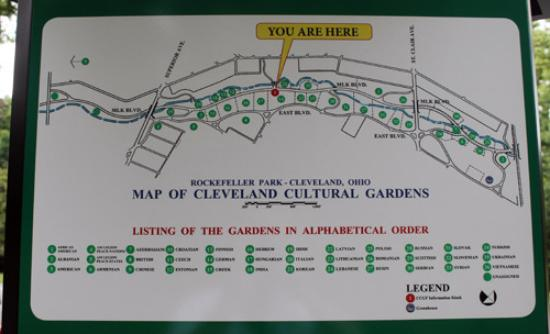 gardens map  Picture of Cleveland Cultural Gardens Cleveland
