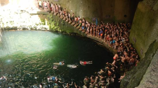 Yucatán, México: What you can't see is the other 100 people in the water.