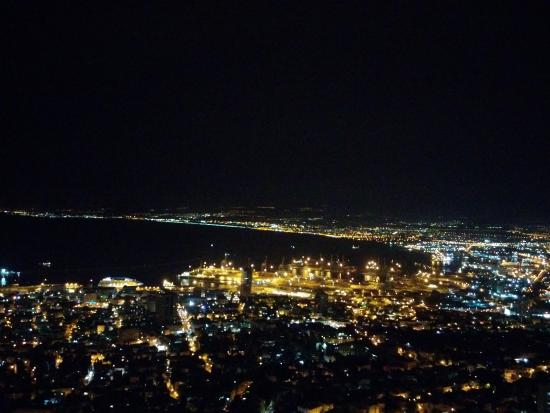 Dan Panorama Haifa: Haifa bay at night (taken from 12th floor)