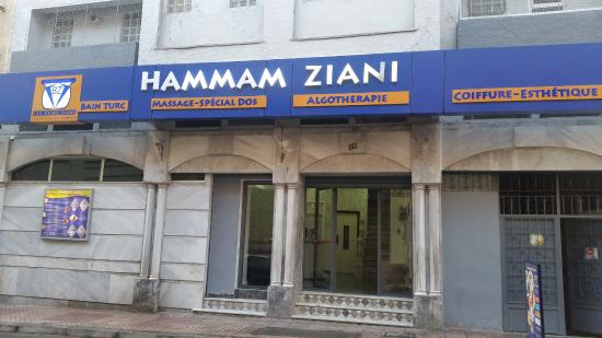 Hammam Ziani : façade du hammam