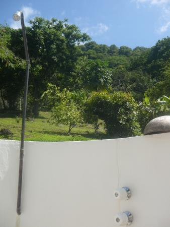Portobelo, Panama: The view up the mountain from the shower