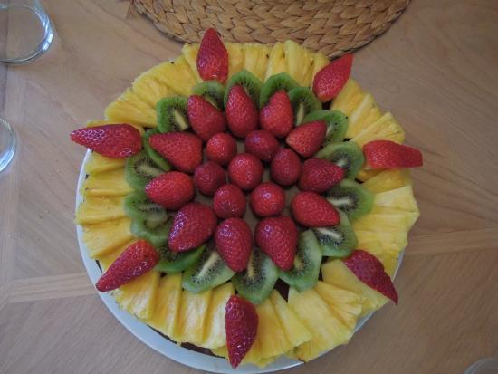 Mas du Canigou: Gâteau d'anniversaire au chocolat et au fruit réalisé pour la 1ère fois !!!