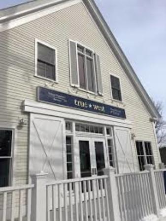 This is the outside of True West Brewery in Acton, MA