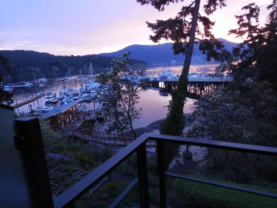 Brentwood Bay Resort & Spa: Sunset from the room.