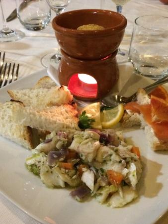 Tuoro sul Trasimeno, Italia: Squisitezze dalla giovane chef dell'Osteria La Pergola