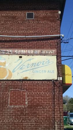 Viola's Submarine House: side of old building--original location
