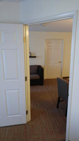 Residence Inn Detroit Novi: View from one bedroom to other in suite