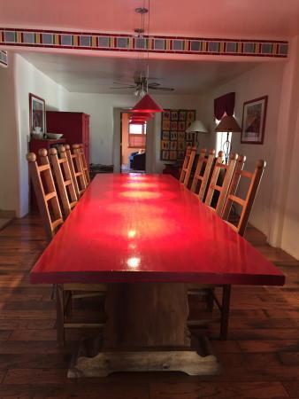 Pojoaque, Nuevo Mexico: Diningroom table