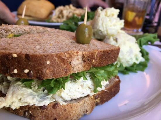 Castroville, TX: Chicken salad Sammy