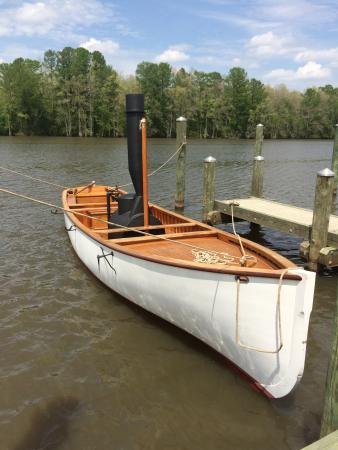 Plymouth, NC: Coal powered boat in the Marina by the Lighthouse