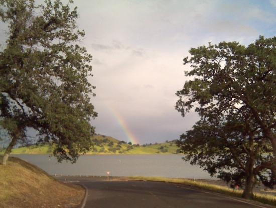 Orland, CA: Rainbow at Black Butte Reservoir, California