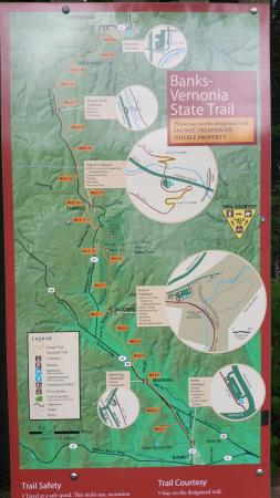 Vernonia, Oregón: map of the trail