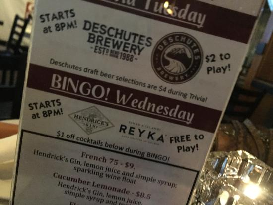 Эверетт, Вашингтон: Bingo in the Bar