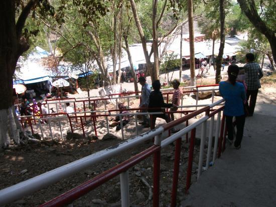 Ha Tien, Vietnam: Staircase to souvenir stalls