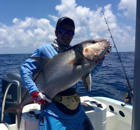 Drake Bay, Costa Rica: Amberjack on Jig