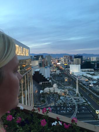 View from the 62nd floor! - Picture of Foundation Room, Las Vegas ...