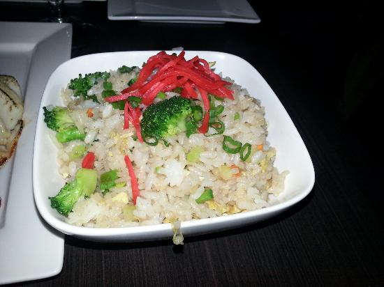Ferndale, MI: Veggie fried rice & Chilean sea bass