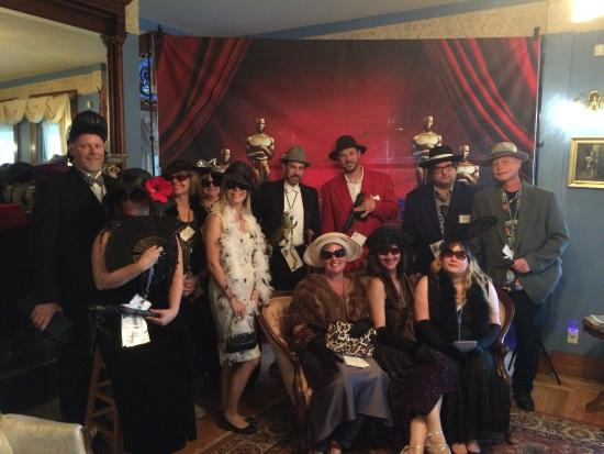 Bellevue, Iowa: All who participated in our Murder Mystery Dinner Party.