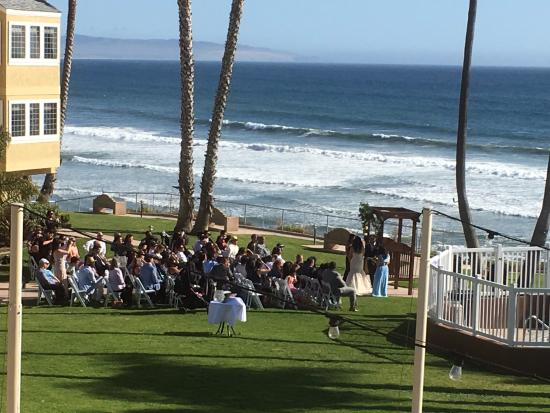 Seacrest Oceanfront Hotel Wedding Taking Place On South Lawn Area