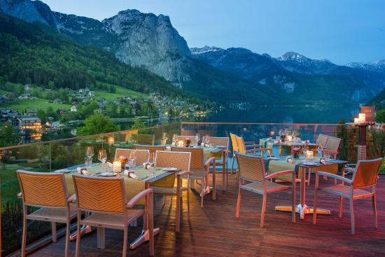 Grundlsee, Austria: Terrasse