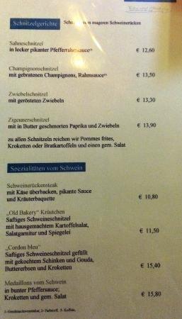 Wissen, Allemagne : Speisekarte Seite 3