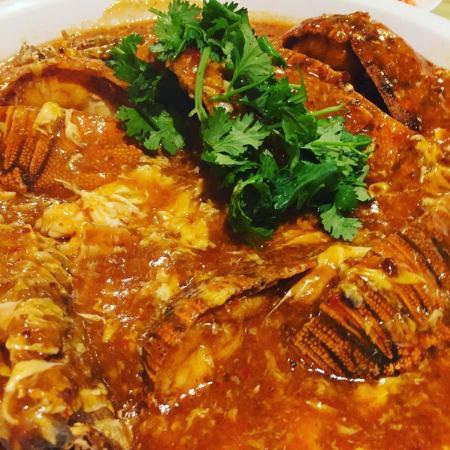 Chin Lee Restaurant: Highlight of my dinner was this Singapore-Style Teochew Sambal Chili Crayfish