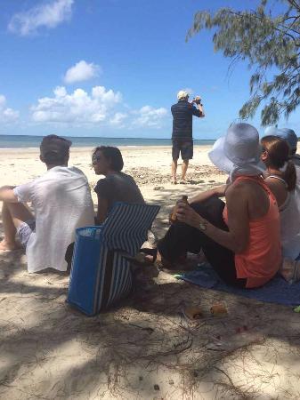Cape Tribulation, Australien: Picnic lunch at a deserted beach near Cape Tribuation