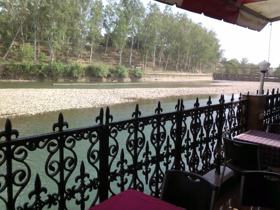 Punjab, India: River Side view from Restaurant