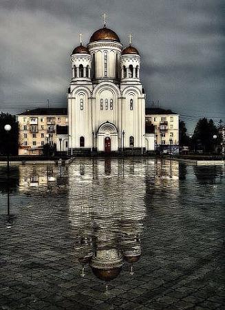 Serov, Russland: Красиво даже в дождь