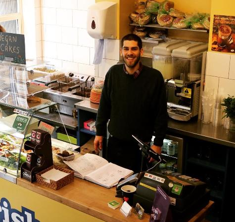 Moorish Falafel Bar: Manager Dan